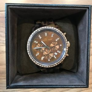 Michael Kors Watch Womens - Tortoise/Brown/Tan